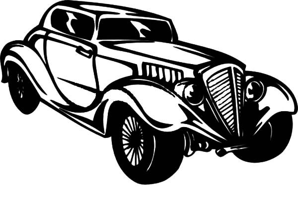 Hot Rod Cars, : Antique Hot Rod Cars Coloring Pages