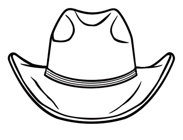 Cowboy Hat, : Awesome Cowboy Hat Coloring Pages