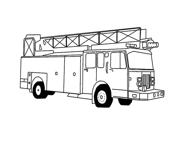 Fire Engine, : Awesome Fire Engine Coloring Pages