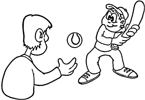 Exercise, : Baseball Daily Exercise Coloring Pages