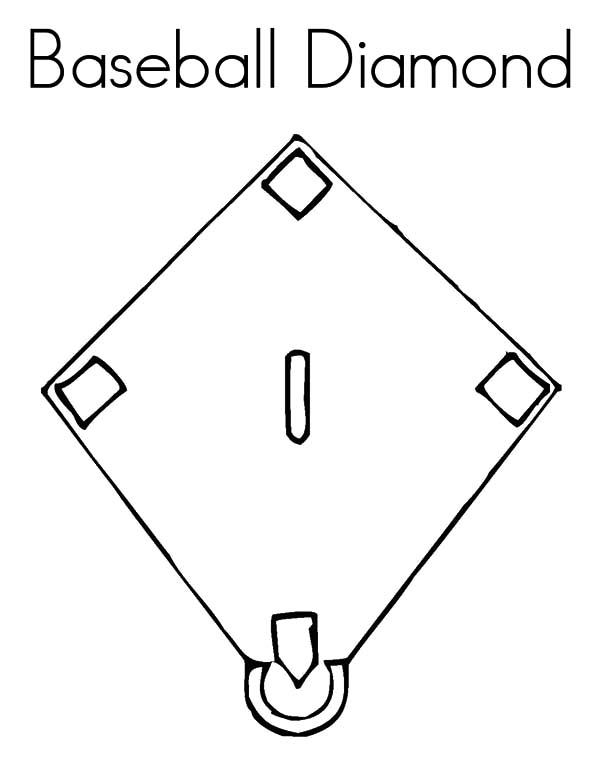 Diamond Shape, : Baseball Diamond Shape Coloring Pages