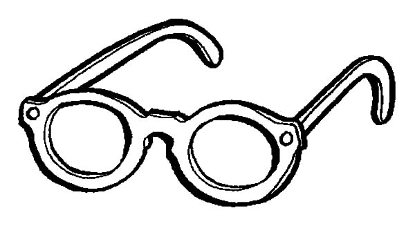 Eyeglasses, : Beach Eyeglasses Coloring Pages