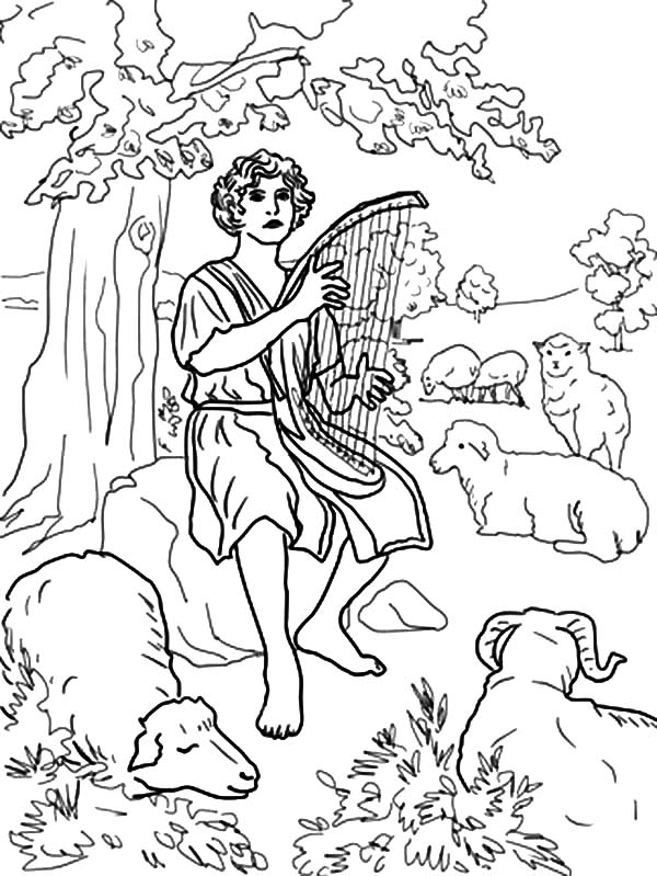 Bible For Children David The Shepherd Boy Coloring Pages ...
