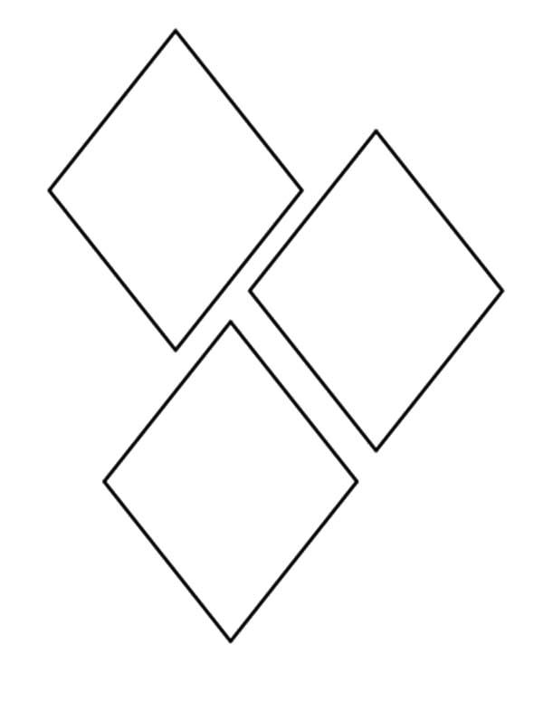 Diamond Shape, : Squares