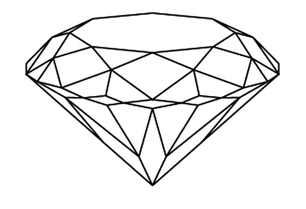 Diamond Shape, : Brilliant Diamond Shape Coloring Pages