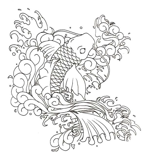 Coy Fish, : Butterfly Coy Fish Coloring Pages