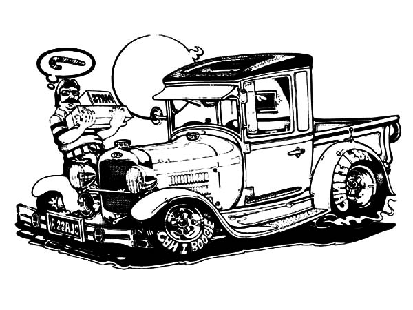 Hot Rod Cars, : Candy Cane Box Hot Rod Cars Coloring Pages
