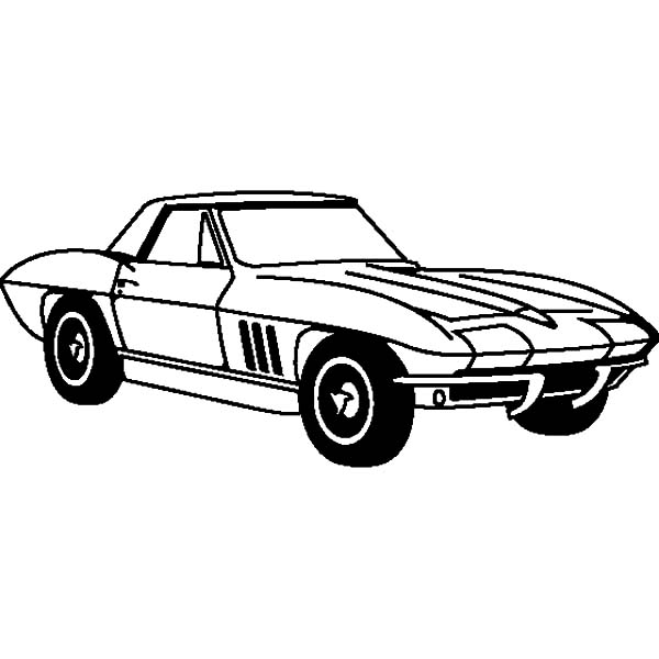 Corvette Cars, : Chevrolet Cars Corvette 1963 Coloring Pages