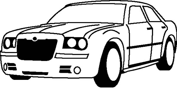 Corvette Cars, : Chevrolet Corvette 300C Cars Coloring Pages