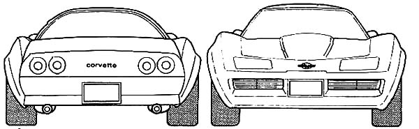 Corvette Cars, : Chevrolet Corvette Cars 1970 Coloring Pages
