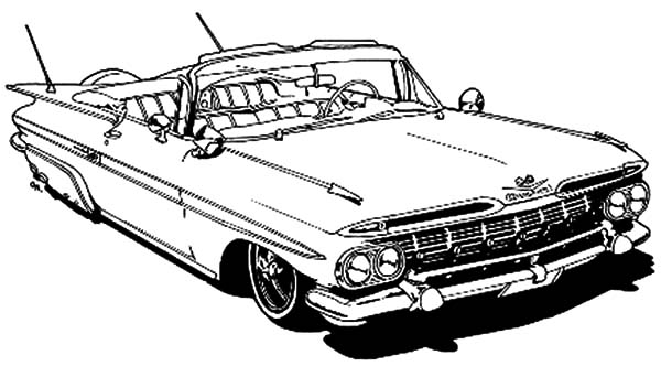 coloring pages cars antiques | Chevy Corvette Classic Cars Coloring Pages : Kids Play Color