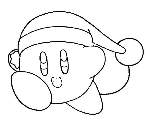 Kirby, : Christmas Kirby Coloring Pages