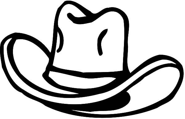 Cowboy Hat, : Classic Cowboy Hat Coloring Pages