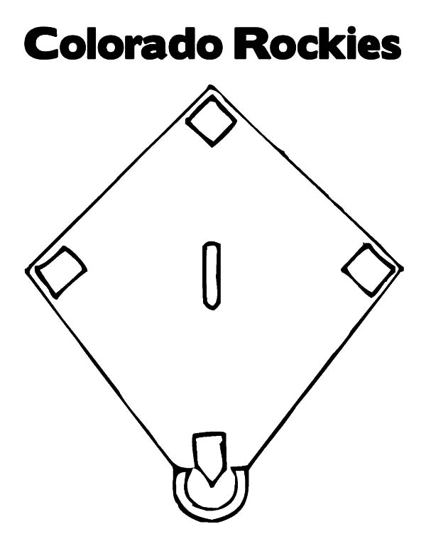 Diamond Shape, : Colorado Rockies Diamond Shape Coloring Pages