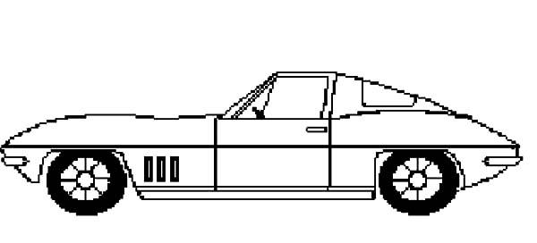 Corvette Cars, : Corvette Cars Picture Coloring Pages