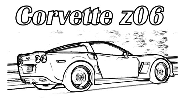 Corvette Cars, : Corvette Z06 Cars Coloring Pages