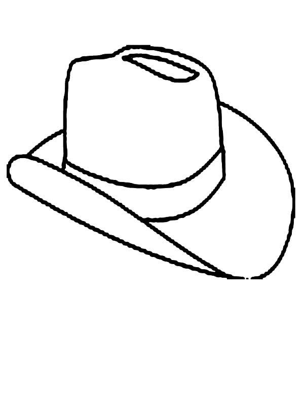 Cowboy Hat, : Cowboy Hat Made from Animal Skin Coloring Pages