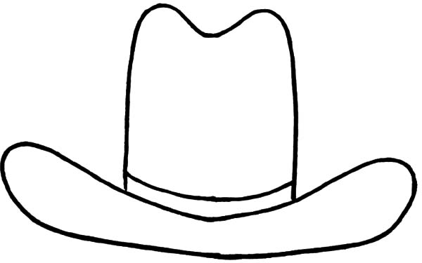 Cowboy Hat, : Cowboy Hat Outline Coloring Pages