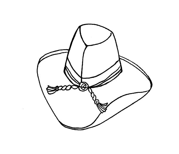 Cowboy Hat, : Cowboy Hat for Girls Coloring Pages