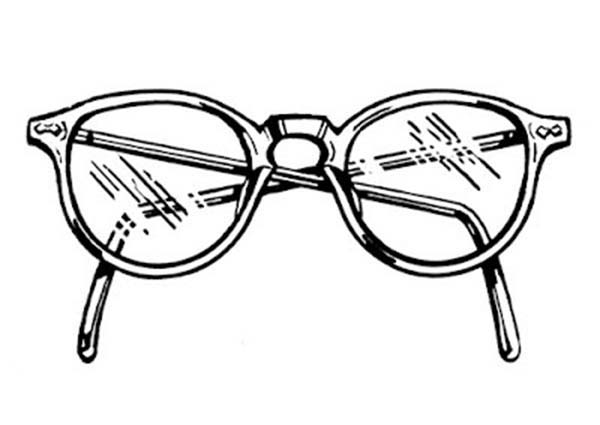 Eyeglasses, : Crystal Clear Eyeglasses Coloring Pages