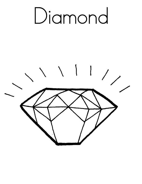 Diamond Shape, : D for Diamond Shape Coloring Pages