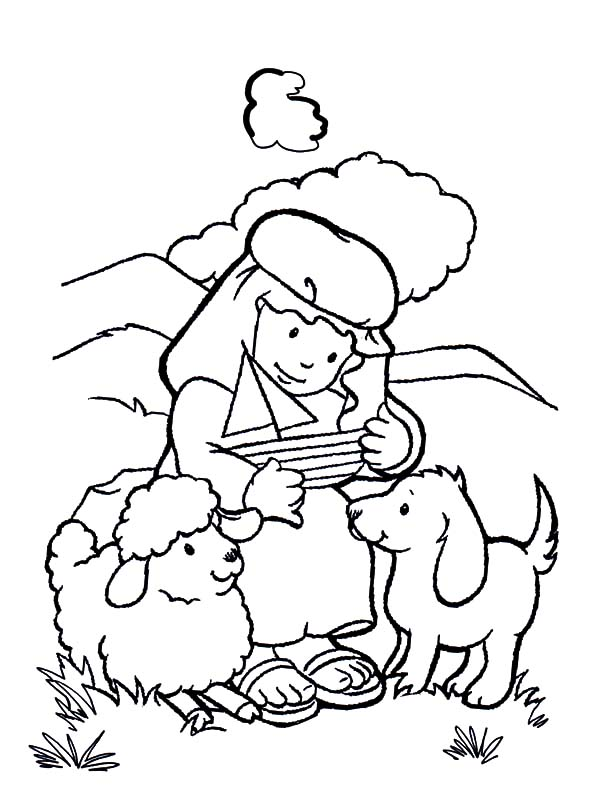 - David The Shepherd Boy Make Sailship Toy Coloring Pages : Kids Play Color