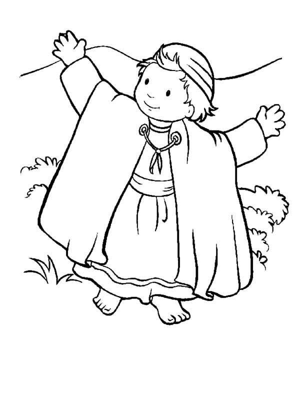 David The Shepherd Boy, : David the Shepherd Boy Walking Barefoot Coloring Pages