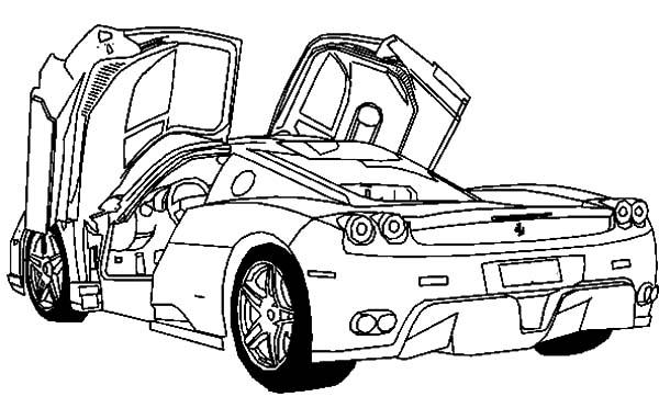 Ferrari Cars, : Deluxe Sport Cars Ferrari Coloring Pages