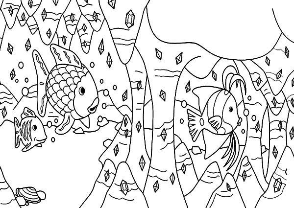 Coral Reef Fish, : Diamond Coral Reef Fish Coloring Pages