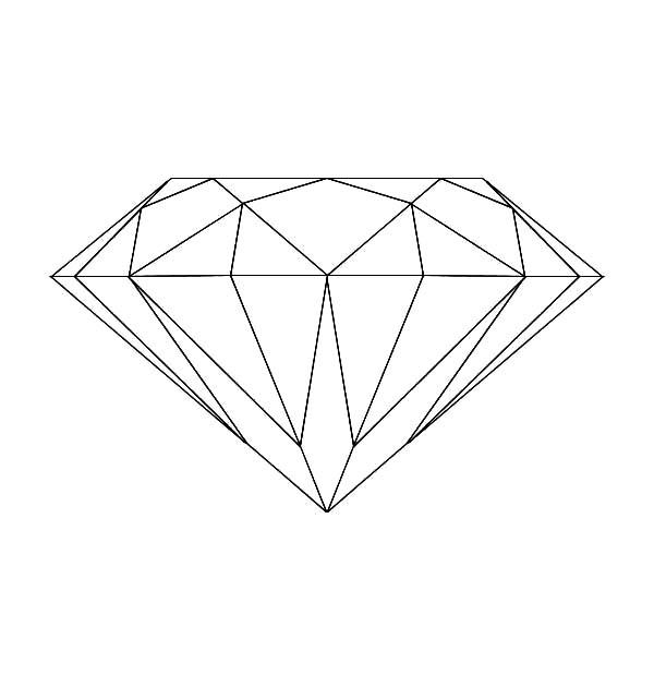 Diamond Shape, : Diamond Shape Coloring Pages for Kids