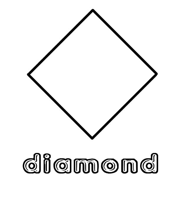 Diamond Shape, : Diamond Shape Coloring Pages