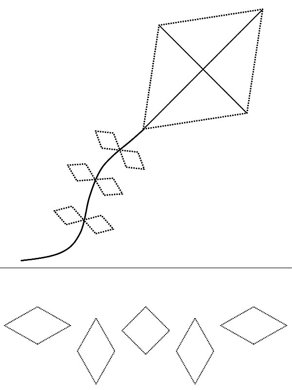 Diamond Shape, : Diamond Shape Kite Coloring Pages