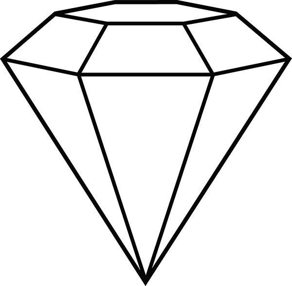 Diamond Shape, : Diamond Shape Outline Coloring Pages