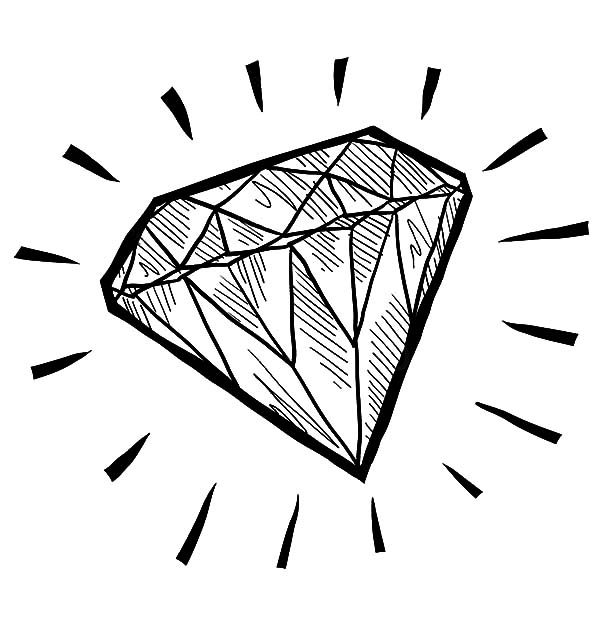 Diamond Shape, : Diamond Shape Sketch Coloring Pages