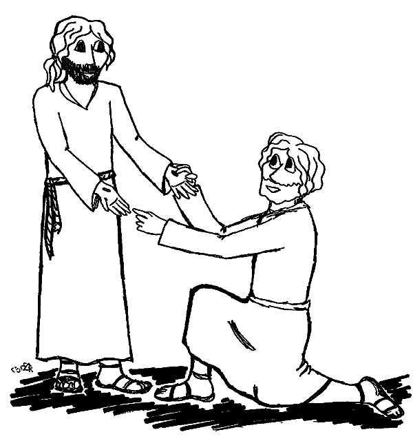 Doubting Thomas, : Doubting Thomas Finally Believe in Jesus Coloring Pages