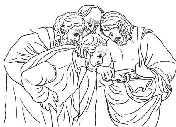 Doubting Thomas, : Doubting Thomas Touch Jesus Chest Coloring Pages