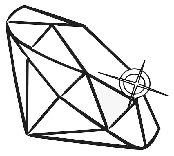 Diamond Shape, : Print