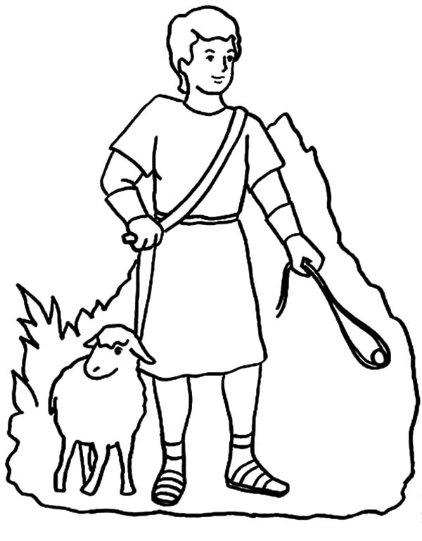David The Shepherd Boy, : Drawing David the Shepherd Boy Coloring Pages
