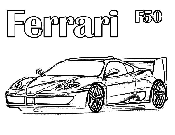 Ferrari Cars, : Drawing Ferrari Cars F50 Coloring Pages