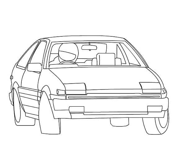 Drifting Cars, : Drifting Cars Outline Coloring Pages