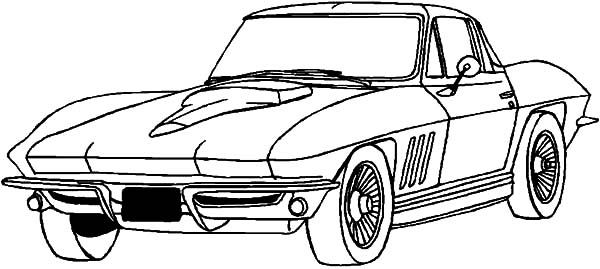Corvette Cars, : Drifting Corvette Cars Coloring Pages