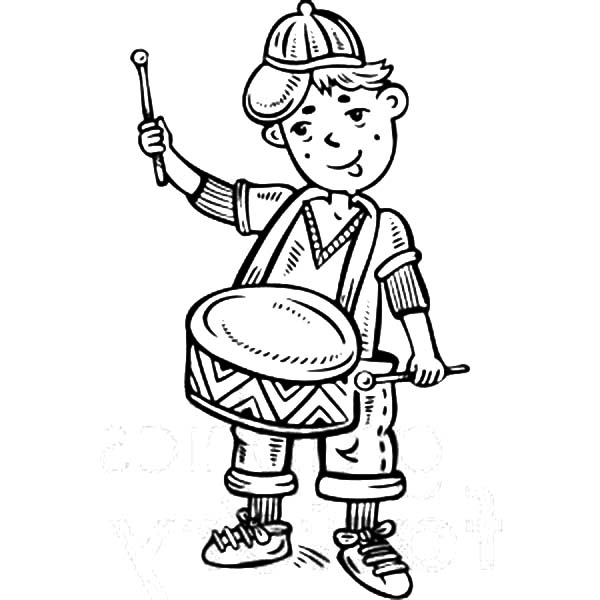 Drummer Boy, : Drummer Boy Coloring Pages