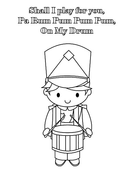 Drummer Boy, : Drummer Boy Play Drum for You Coloring Pages