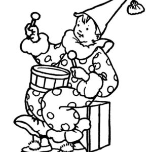 Drummer Boy Chased By His Dog Coloring Pages : Kids Play Color