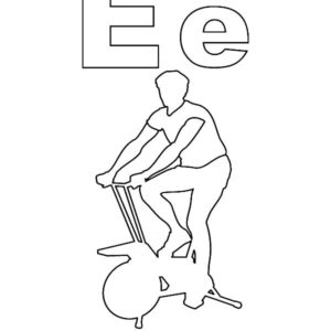 physical exercise coloring pages - photo#36