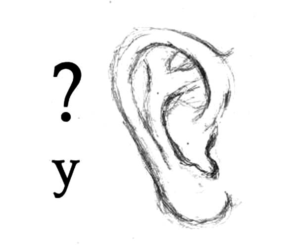 Ear, : Ear Sketch Coloring Pages