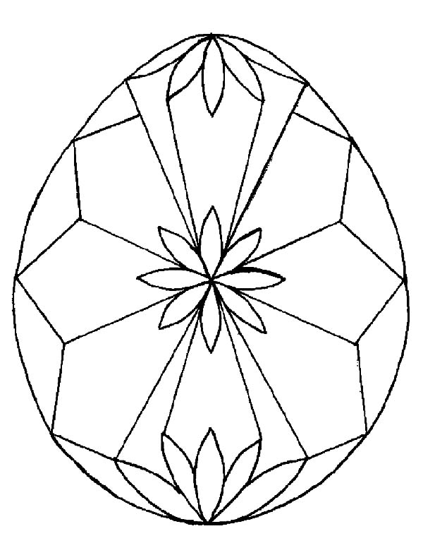 Diamond Shape, : Easter Egg Diamond Shape Design Coloring Pages