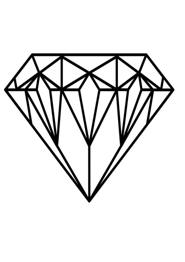 Diamond Shape, : Expensive Diamond Shape Coloring Pages