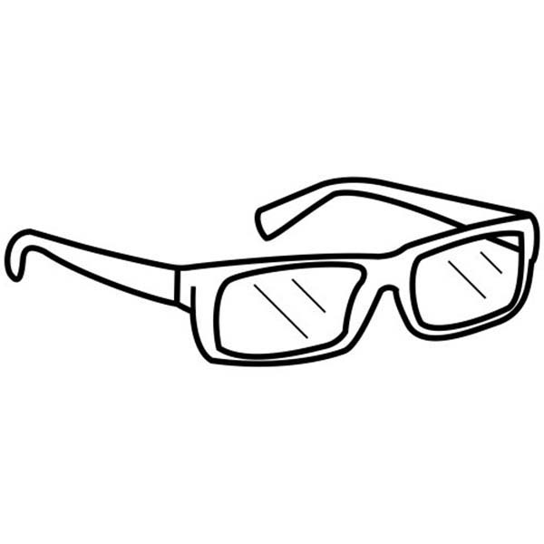 Eyeglasses, : Eyeglasses Coloring Pages for Kids