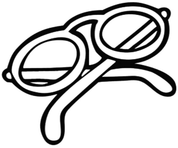 Eyeglasses, : Eyeglasses Picture Coloring Pages